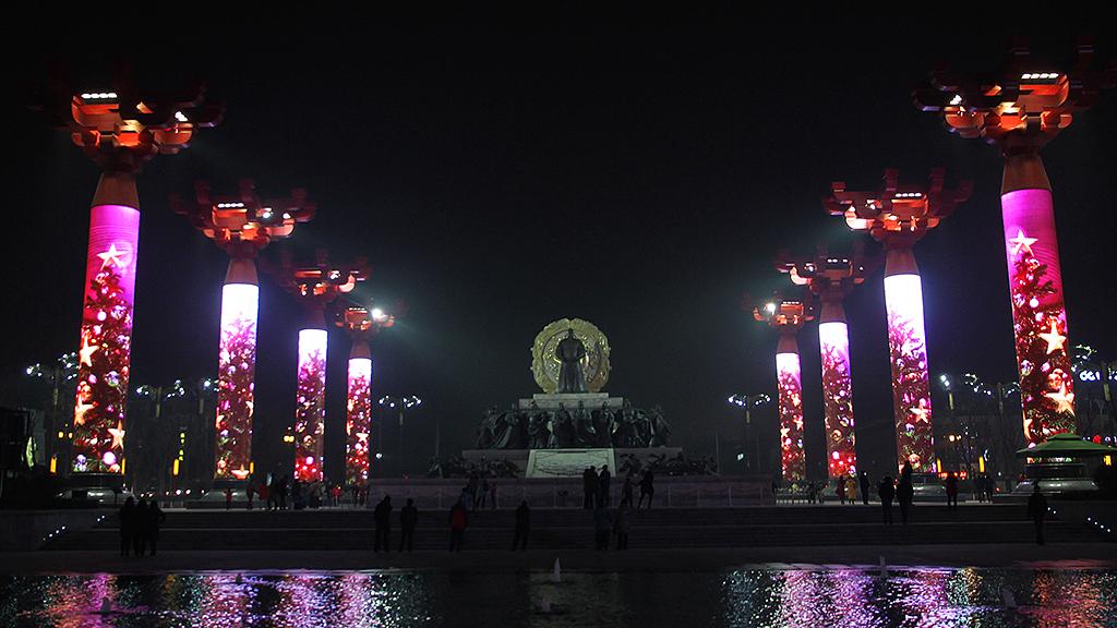 大唐不夜城多媒体艺术景观柱