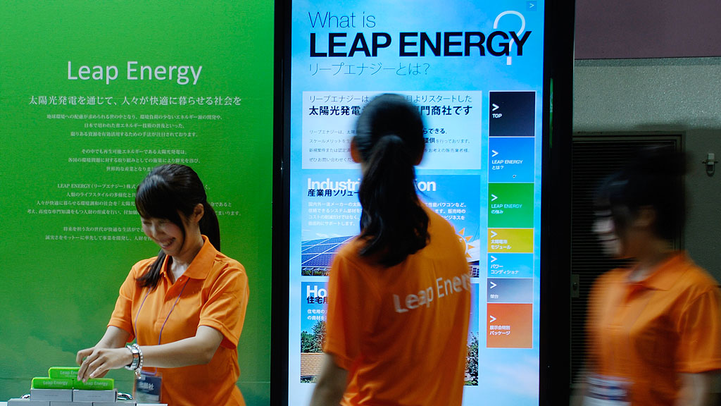 Leap Energy Touch Panel Content